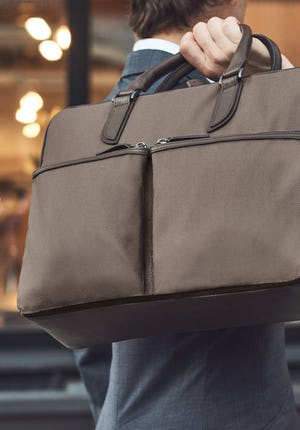C3–3 Briefcase Leather and nylon briefcase