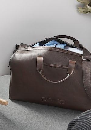Hanbury Grained leather weekend bag