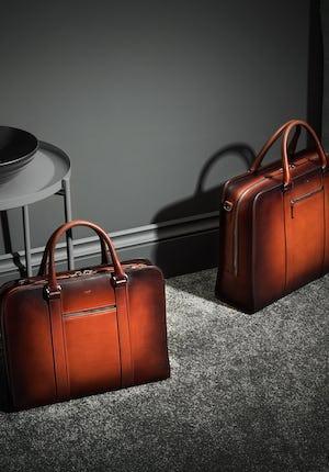 Palissy Briefcase – Patina Handpainted slim briefcase