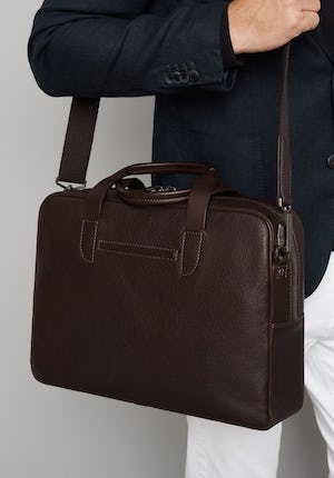 Bolton Grained leather briefcase