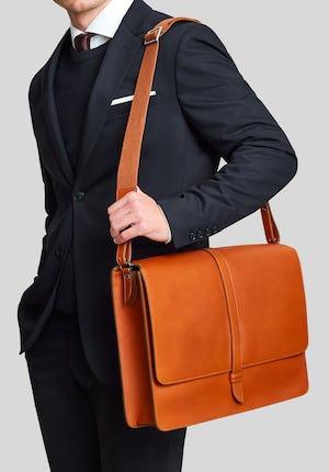 Montagu Leather laptop messenger bag