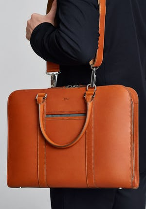 Palissy Briefcase Slim leather briefcase