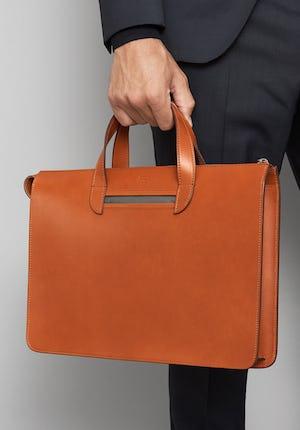Vallance Slim leather briefcase