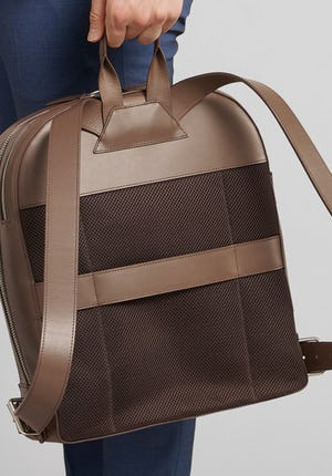 C3–1 Backpack Leather and nylon backpack
