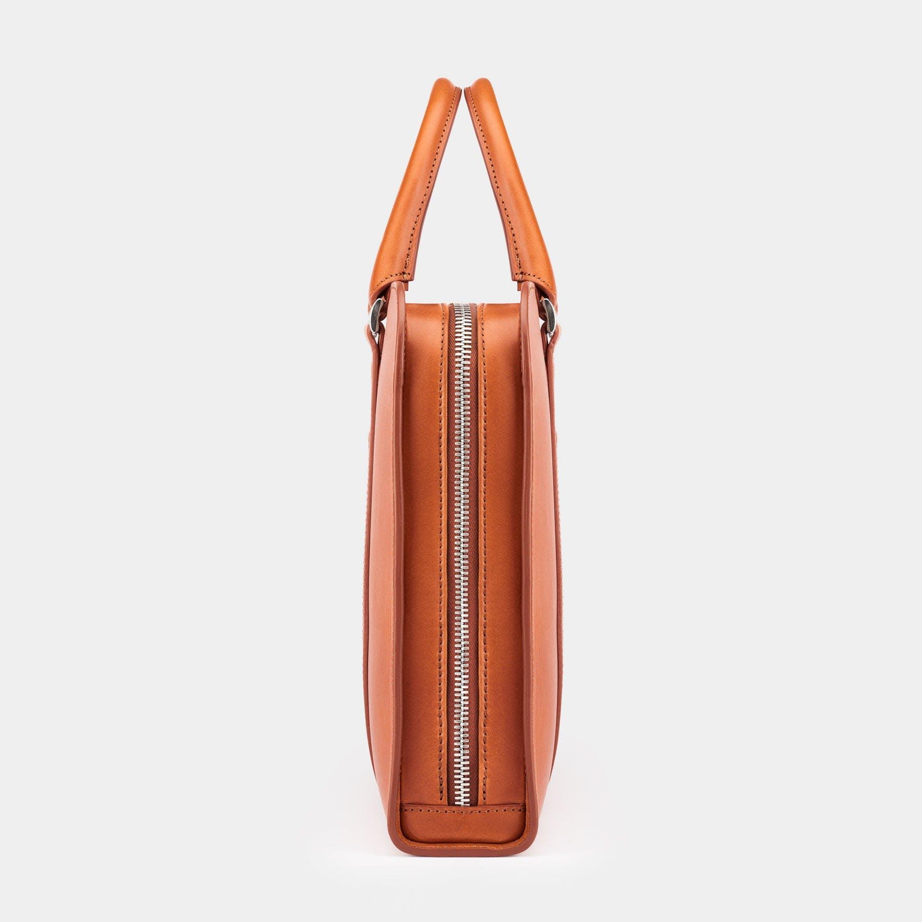 Colored Vachetta 19 Leather Travel Duffel Color Tan